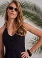 Morhipo Beach Boyundan Bağlamalı Elbise Siyah